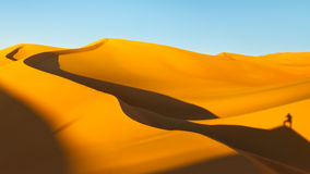 Shadows at Sunset on the Sand Dunes Royalty Free Stock Images