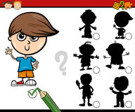 Shadows task cartoon for children Stock Photo