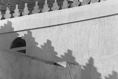Shadows of traditional Bahraini rooftop Stock Image