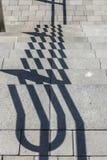 shadows trappa Arkivbild