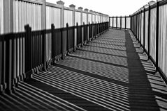 Shadows and a turn on a path Royalty Free Stock Images