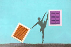 Shadows on the wall, ballet Royalty Free Stock Image
