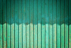 Shadows on Wooden Wall. Abstract Shadows on Green Wooden Wall Royalty Free Stock Image