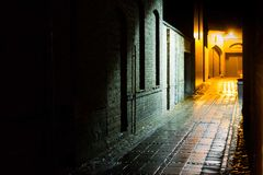 SHADOWY ALLEY Stock Images