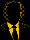 Shadowy Businessman Stock Images