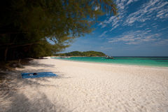 Shady Beach White Sand Beach Koh Lipe Stock Photo
