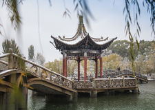 Shady bower on the west lake in hangzhou,China Royalty Free Stock Photos
