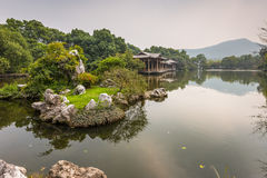 Shady bower on the West Lake in Hangzhou Stock Images