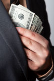 Shady Business Deal Stock Photography