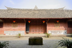Shady courtyard of ancient Chinese mansion in sunny spring Royalty Free Stock Photo