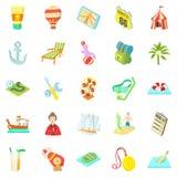 Shady enterprise icons set, cartoon style. Shady enterprise icons set. Cartoon set of 25 shady enterprise icons for web isolated on white background Stock Photos