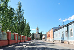 Shady street of the town of Hamina. Finland Stock Images
