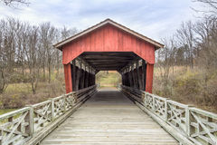 Shaeffer Campbell Covered Bridge Royalty-vrije Stock Fotografie