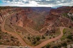 Shafer峡谷在犹他 免版税库存照片