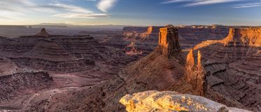 Shafer Canyon Panorama from Marlboro Point royalty free stock images