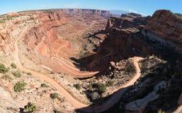 Shafer Canyon switchbacks Stock Photo