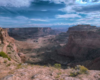Shafer Canyon. View of Shafer Canyon Overlook in Canyonlands National Park, Utah Stock Photography