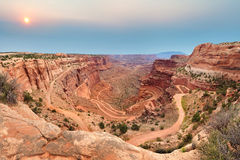 Shafer Trail Road. Switchbacks in Canyonlands National Park near Moab, Utah, U.S.A Royalty Free Stock Photos