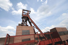 Shaft 1/2/8 of the Coal-Mine Zollverein. World Heritage Center and industrial culture site Royalty Free Stock Photography