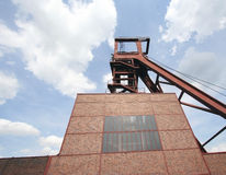 Shaft 1/2/8 of the Coal-Mine Zollverein. Wide-angle against blue sky Stock Photo
