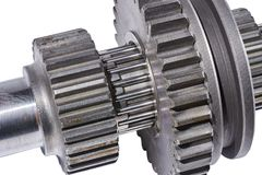 Shaft of gears fragment Stock Photo