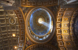Shaft of Light Dome Vatican Rome royalty free stock photo