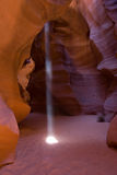 Shaft of light streaming in, Upper Antelope Canyon Stock Photography