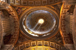 Shaft Light Vatican Inside Small Dome Royalty Free Stock Photo