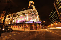 The Shaftesbury Theatre at night Royalty Free Stock Photography