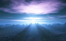 Shafts of Sunlight Stock Photo