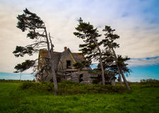 Shagging abandon house. Sagging abandon house in rural prince edward island royalty free stock images