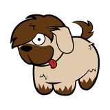 Shaggy Beige Sheepdog Dog divertido ilustración del vector