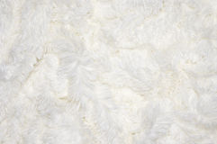 Shaggy blanket texture. White shaggy blanket texture as background Stock Photos