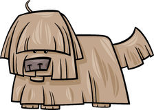 Shaggy dog cartoon illustration Royalty Free Stock Photo