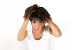 Shaggy girl Royalty Free Stock Images