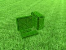Shaggy green computer Stock Photos