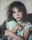 Ruffled girl in the morning. Royalty Free Stock Photos