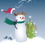 Shaggy Snowman stock illustratie