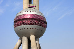 Shagnhai oriental pearl tower Royalty Free Stock Image