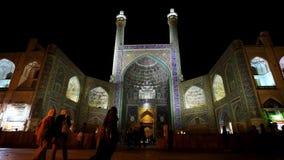 Shah清真寺中央门户在伊斯法罕 股票录像