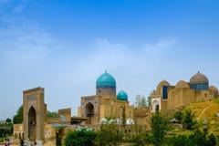 Shah-ι-Zinda αναμνηστικός σύνθετος, νεκρόπολη στο Σάμαρκαντ, Ουζμπεκιστάν στοκ εικόνα με δικαίωμα ελεύθερης χρήσης