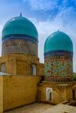 Shah-ι-Zinda αναμνηστικός σύνθετος, νεκρόπολη στο Σάμαρκαντ, Ουζμπεκιστάν στοκ φωτογραφίες
