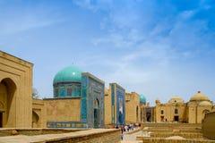 Shah-ι-Zinda αναμνηστικός σύνθετος, νεκρόπολη στο Σάμαρκαντ, Ουζμπεκιστάν στοκ εικόνες με δικαίωμα ελεύθερης χρήσης