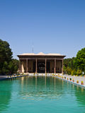 Shah建造的Chehel Sotoun (Sotoon)宫殿阿拔斯II, Esfahan, 免版税库存照片