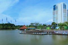 Shah Alam湖庭院 库存图片