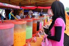 Shah Alam Flea Market. Market stall selling fruit juices at sunday flea market in Shah Alam Stock Images
