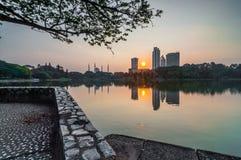 Shah Alam jeziorny wczesny wschód słońca zdjęcie stock