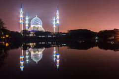Shah Alam moské Arkivfoto