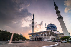 Shah Alam Mosque. This blue mosque located at shah alam, selangor, malaysia Royalty Free Stock Images