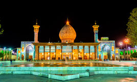 Shah Cheragh, надгробный памятник и мечеть в Ширазе - Иране стоковое изображение rf